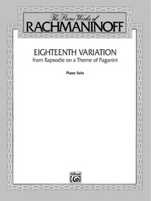 Eighteenth Variation (from <I>Rhapsodie on a Theme of Paganini</I>)