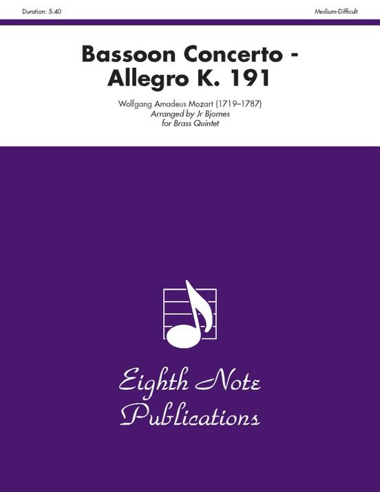 Bassoon Concerto: Allegro, K. 191