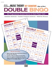 Alfred's Essentials of Music Theory: Double Bingo Game -- Key Signature