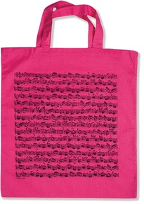 Tote Bag: Sheet Music (Pink)