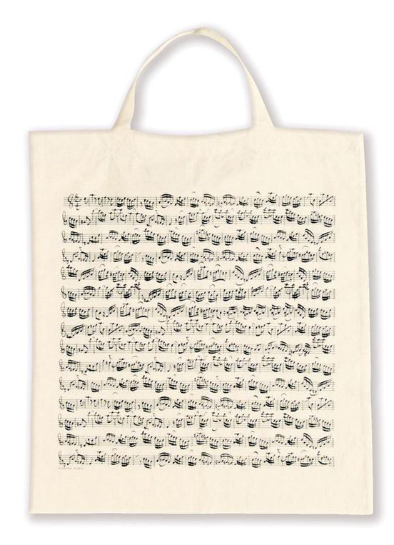 Tote Bag: Sheet Music (White)