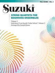 String Quartets for Beginning Ensembles, Volume 3
