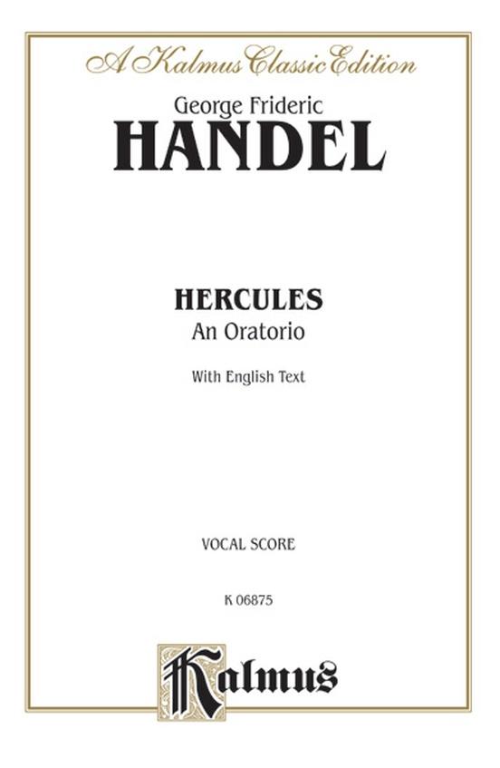 Hercules (1745), An Oratorio