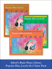 Alfred's Basic Piano Library Popular Hits 1A-2 (Value Pack)