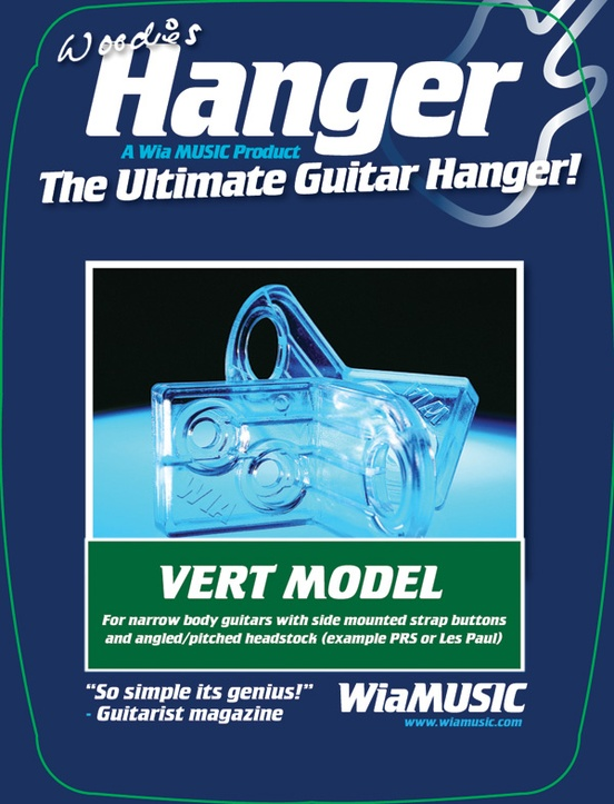 Woodies Guitar Hanger VM02 Vertical Model