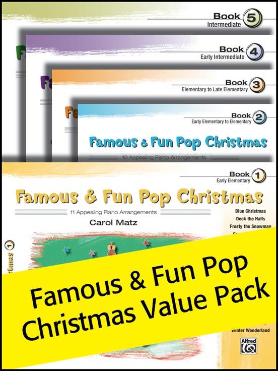 Famous & Fun Pop Christmas, Books 1-5 (Value Pack)