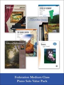 Federation Medium Class Piano Solo (Value Pack)