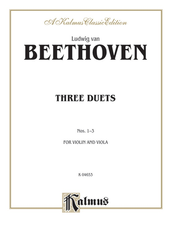 Two Duets, Opus 208: For Violin and Viola (Kalmus Edition)