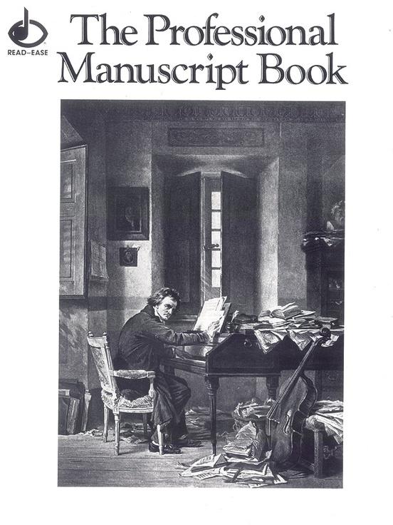 "12 Stave Professional Manuscript Book (Size: 9"" x 12"")"