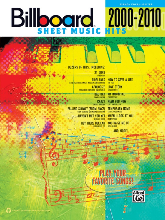 Billboard Sheet Music Hits 2000 2010 Pianovocalguitar Book