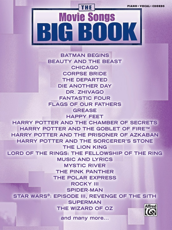 The Movie Songs Big Book Pianovocalchords Book