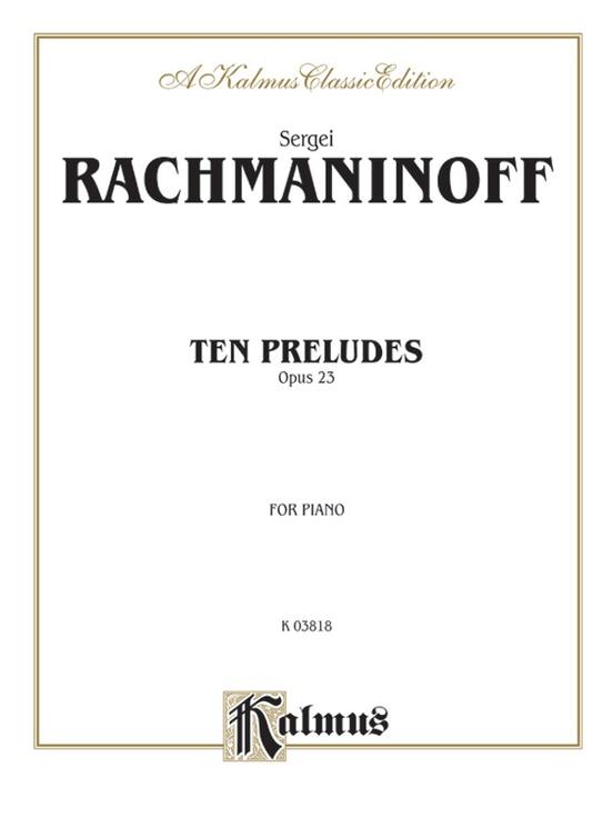 Ten Preludes, Opus 23