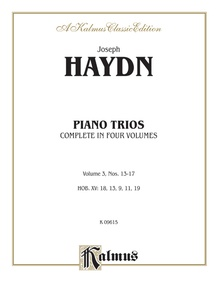 Trios for Violin, Cello and Piano, Volume III (Nos. 13-17, HOB. XV: 18, 13, 9, 11, 19)