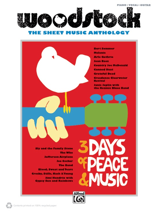 Woodstock Sheet Music Anthology Pianovocalchords Book