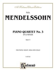 Piano Quartets No. 3 in B Minor, Opus 3