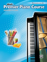 Premier Piano Course, Notespeller 2A