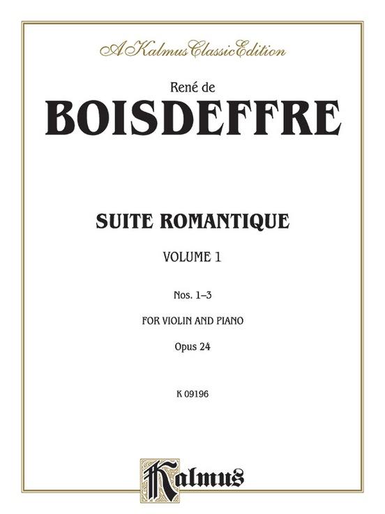 Suite Romantique, Opus 24, Nos. 1-3