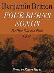 Four Burns Songs, Opus 92