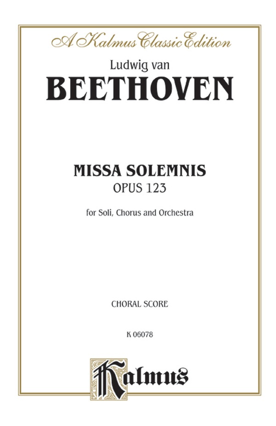 Missa Solemnis, Opus 123