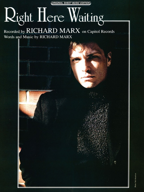 Right Here Waiting Pianovocalchords Sheet Richard Marx