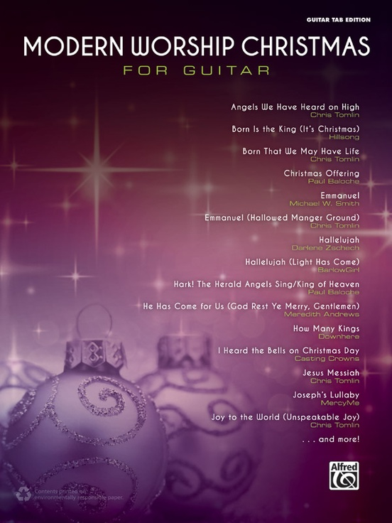 Modern Worship Christmas For Guitar Guitar Tab Edition Book