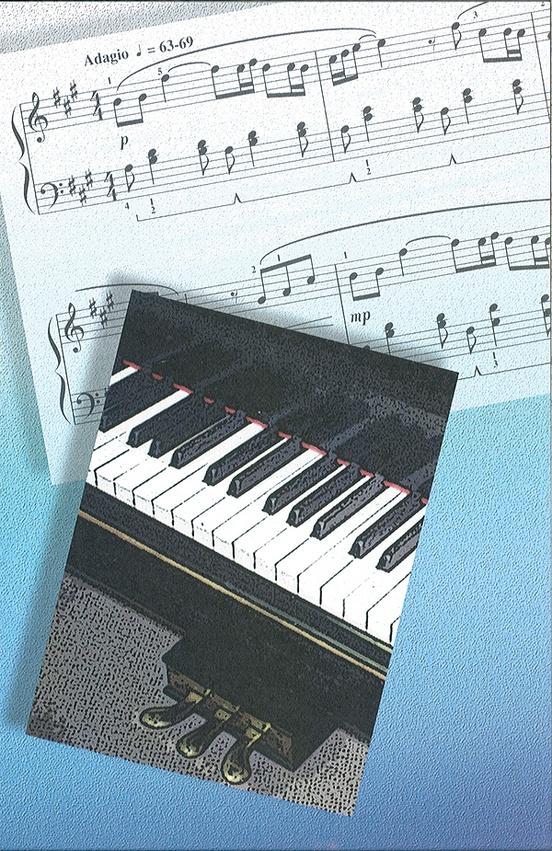 Schaum Recital Programs (Blank) #67: Sheet Music and Piano