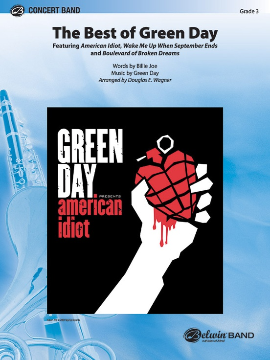 The Best Of Green Day Concert Band Conductor Score Parts Green Day