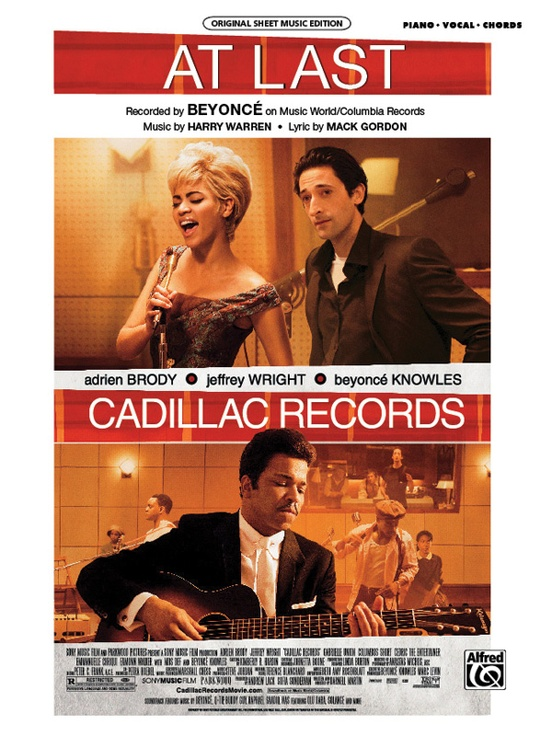 At Last From Cadillac Records Pianovocalchords Sheet Beyonc