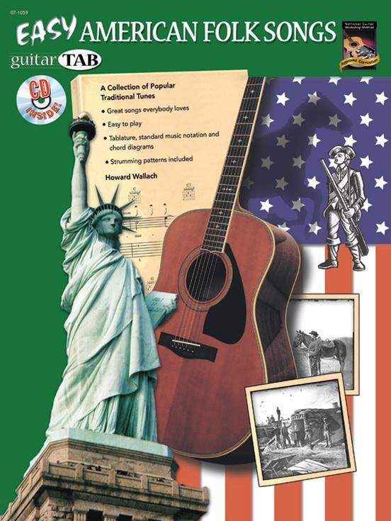 Easy American Folk Songs: Guitar Book & CD