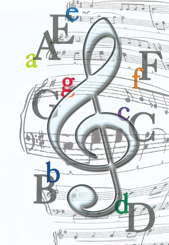Schaum Recital Programs (Blank) #62: Treble Clef with Letters