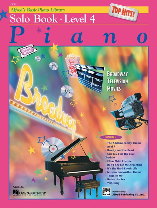 Alfreds Basic Piano Library Top Hits Solo Book 4 Piano Book