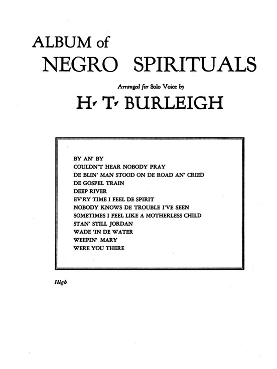Album of Negro Spirituals