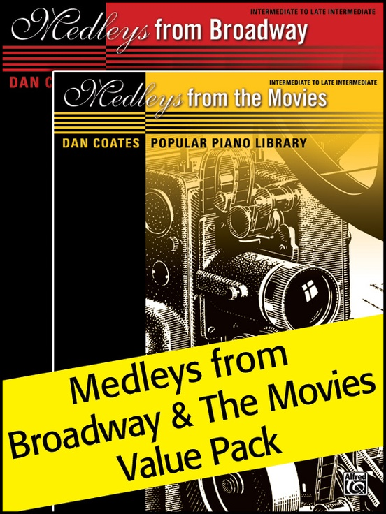 Dan Coates Popular Piano Library: Medleys from Broadway & Medleys from the Movies (Value Pack)