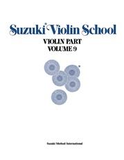 Suzuki Violin School Violin Part, Volume 9