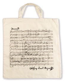 Tote Bag: Mozart (White)