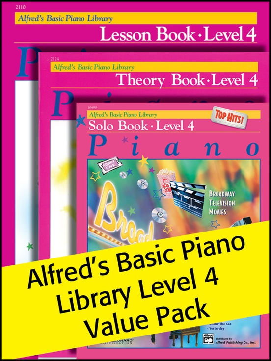 Alfred's Basic Piano Library 4 2012 (Value Pack)