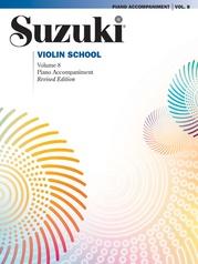 Suzuki Violin School Piano Acc., Volume 8 (Revised)