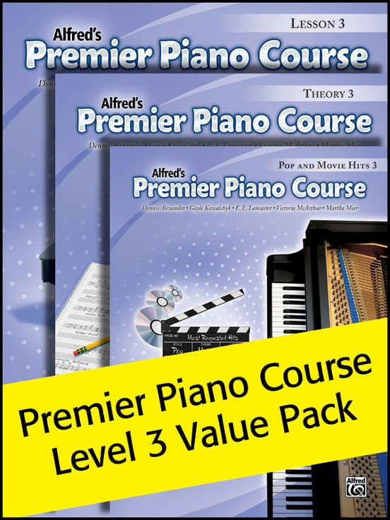 Premier Piano Course, Lesson, Theory & Pop Hits 3 (Value Pack 2012)