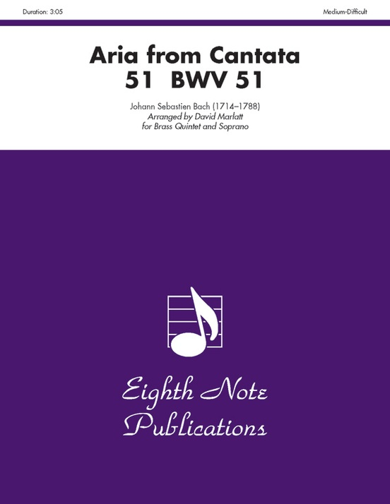 Aria (from Cantata 51, BWV 51)