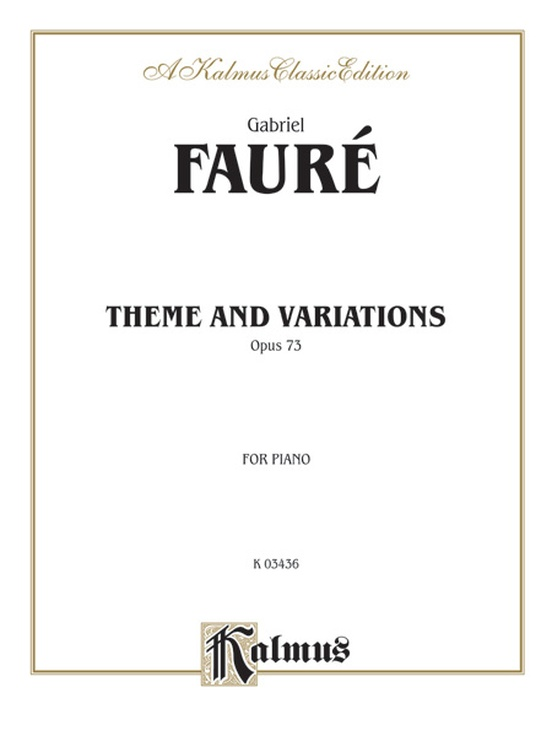 Theme and Variations, Opus 73