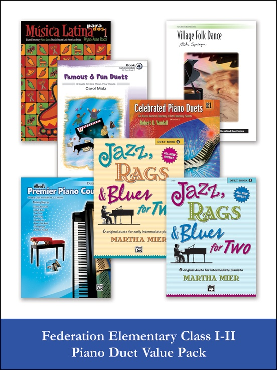 Federation Elementary Class I-II Piano Duet (Value Pack)