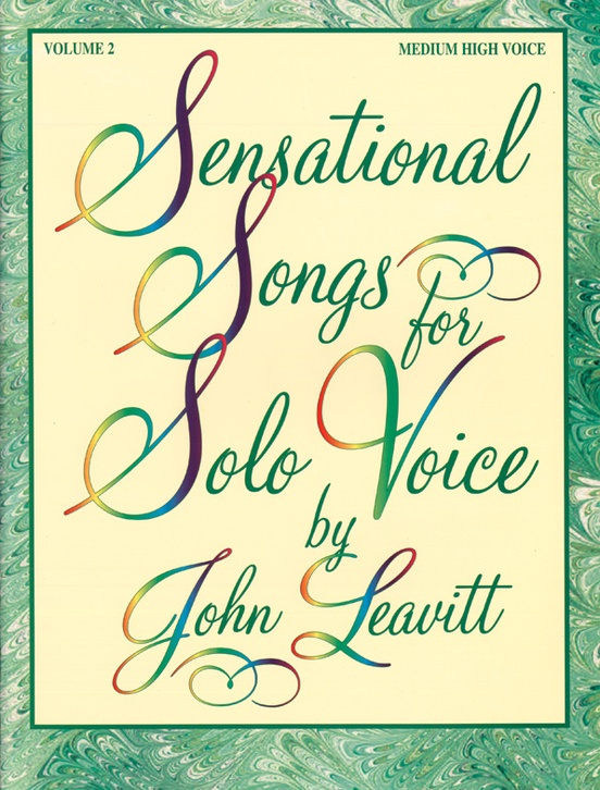 Sensational Songs for Solo Voice, Volume 2