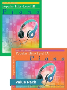 Alfred's Basic Piano Library: Popular Hits, Levels 1A & 1B (Value Pack)