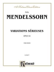 Variations sérieuses, Opus 54