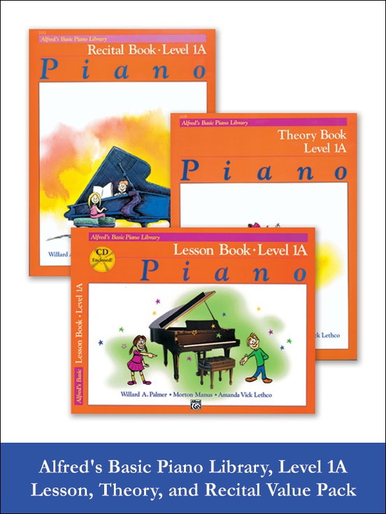 Alfred's Basic Piano Library Lesson, Theory, Recital 1A (Value Pack)