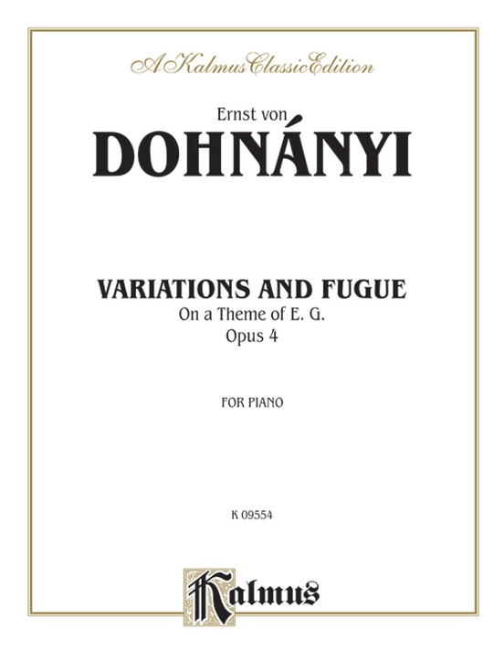 Variation & Fugue on a Theme of E. G., Opus 4