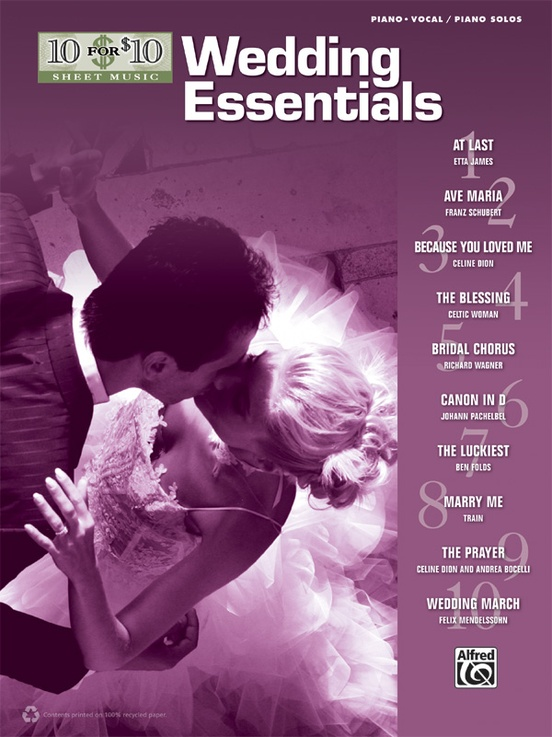 10 for 10 Sheet Music: Wedding Essentials