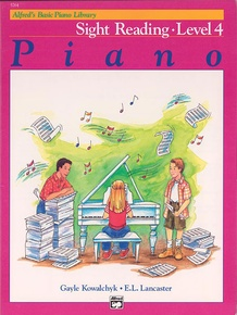Alfred's Basic Piano Library: Sight Reading Book 4