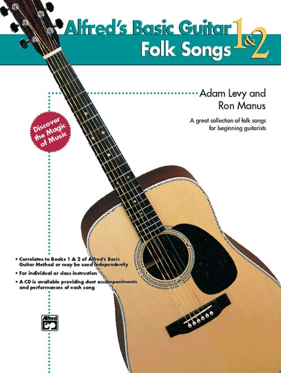 Alfred's Basic Guitar Folk Songs 1 & 2