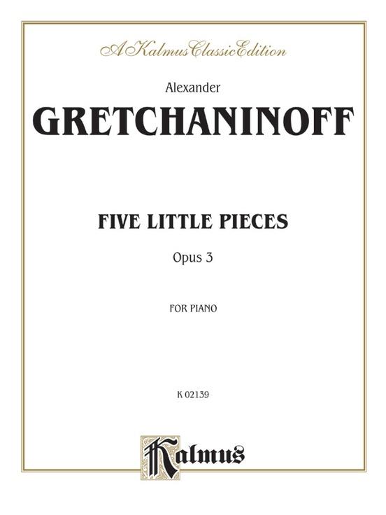 Five Little Pieces, Opus 3